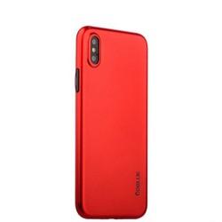 """Чехол-накладка супертонкая Coblue Slim Series PP Case & Glass (2в1) для iPhone XS/ X (5.8"""") Красный"""
