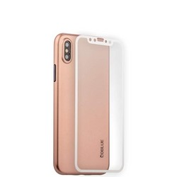 "Чехол-накладка супертонкая Coblue Slim Series PP Case & Glass (2в1) для iPhone XS/ X (5.8"") Розовый"
