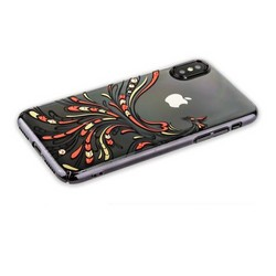 "Чехол-накладка KINGXBAR для iPhone XS/ X (5.8"") пластик со стразами Swarovski 49F черный (Полет)"