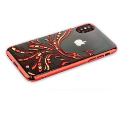 "Чехол-накладка KINGXBAR для iPhone XS/ X (5.8"") пластик со стразами Swarovski 49F красный (Полет)"