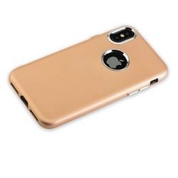 """Чехол-накладка силиконовый J-case Metal touch Series Matt 0.5mm для iPhone XS/ X (5.8"""") Золотистый"""