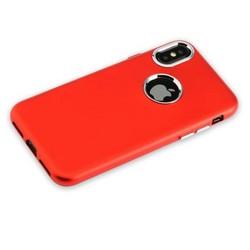 """Чехол-накладка силиконовый J-case Metal touch Series Matt 0.5mm для iPhone XS/ X (5.8"""") Красный"""