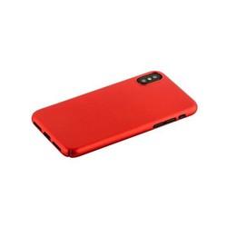 "Чехол-накладка пластик Soft touch Deppa Air Case D-83324 для iPhone XS/ X (5.8"") 1мм Красный"