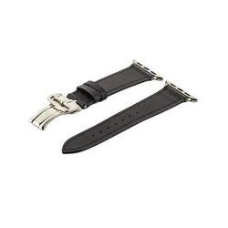 Ремешок кожаный COTEetCI W16 Fashion LEATHER застёжка «бабочка» (WH5222-BK-38) для Apple Watch 40мм/ 38мм Черный