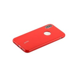 """Чехол-накладка силиконовый Cherry матовый 0.4mm & пленка для iPhone XS/ X (5.8"""") Красный"""