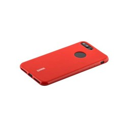 """Чехол-накладка силиконовый Cherry матовый 0.4mm & пленка для iPhone 8 Plus/ 7 Plus (5.5"""") Красный"""