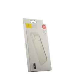 """Накладка Baseus ARAPIPHX-SB02 пластиковая Suthin Case для iPhone XS/ X (5.8"""") Прозрачная с силиконым белым бортом"""