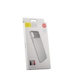 """Накладка Baseus WIAPIPHX-QF02 силиконовая Slim Lotus Case для iPhone XS/ X (5.8"""") Матовая с пластиковой белой вставкой"""