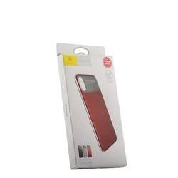 """Накладка Baseus WIAPIPHX-QF09 силиконовая Slim Lotus Case для iPhone XS/ X (5.8"""") Матовая с пластиковой красной вставкой"""