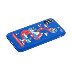 """Чехол-накладка TPU Deppa D-103959 ЧМ по футболу FIFA™ Sochi для iPhone XS/ X (5.8"""")"""