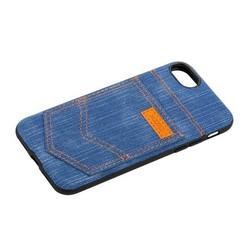 """Чехол-накладка XOOMZ для iPhone SE (2020г.)/ 8/ 7 (4.7"""") Pocket PU Back Cover (XI719) джинсовый Голубой"""