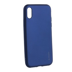 "Чехол-накладка Deppa Case Silk TPU Soft touch D-89041 для iPhone XS/ X (5.8"") 1мм Синий металик"