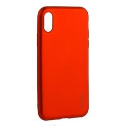 "Чехол-накладка Deppa Case Silk TPU Soft touch D-89042 для iPhone XS/ X (5.8"") 1мм Красный металик"