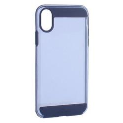 """Чехол-накладка Black Rock Air Robust пластик прозрачный для iPhone XS/ X (5.8"""") силиконовый борт (800064) 1060ARR02 Черный"""