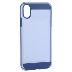 "Чехол-накладка Black Rock Air Robust пластик прозрачный для iPhone XS/ X (5.8"") силиконовый борт (800073) 1060ARR25 Синий"