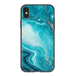 "Чехол-накладка закаленное стекло Deppa Glass Case D-86506 для iPhone XS/ X (5.8"") 2.0мм Голубой"