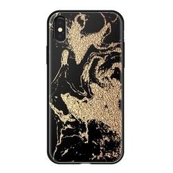 """Чехол-накладка закаленное стекло Deppa Glass Case D-86507 для iPhone XS/ X (5.8"""") 2.0мм Золотистый"""