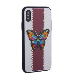 "Накладка силиконовая TOTU Butterfly Love Series -019 для iPhone XS/ X (5.8"") Бабочка Red"