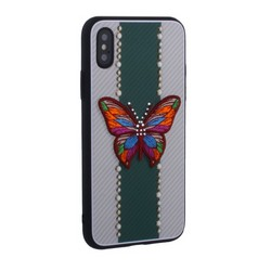 "Накладка силиконовая TOTU Butterfly Love Series -019 для iPhone XS/ X (5.8"") Бабочка Green"