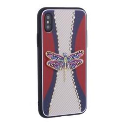 """Накладка силиконовая TOTU Dancing Dragonfly Series -020 для iPhone XS/ X (5.8"""") Стрекоза Purple"""