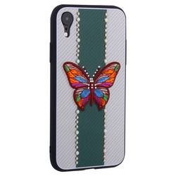 "Накладка силиконовая TOTU Butterfly Love Series -019 для iPhone XR (6.1"") Бабочка Green"