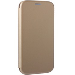 Чехол-книжка кожаный Fashion Case Slim-Fit для Samsung Galaxy A70 Gold Золотой