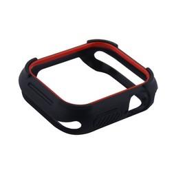 Чехол силиконовый бампер COTEetCI PU+TPU case для Apple Watch Series 5/ 4 (CS7051-BR) 40мм Черный (красный ободок)