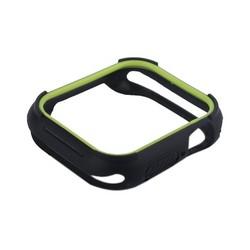 Чехол силиконовый бампер COTEetCI PU+TPU case для Apple Watch Series 5/ 4 (CS7052-BY) 44мм Черный (салатовый ободок)