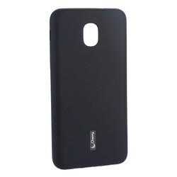 Чехол-накладка силиконовый Cherry матовый 0.4mm & пленка для Samsung Galaxy J3 (2018г.) Черный