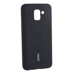 Чехол-накладка силиконовый Cherry матовый 0.4mm & пленка для Samsung Galaxy J6 (2018г.) Черный