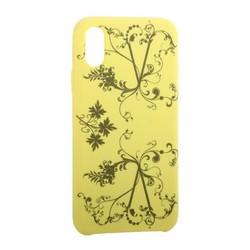 """Чехол-накладка силиконовый Silicone Cover для iPhone XS/ X (5.8"""") Узор Желтый"""