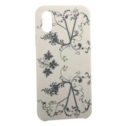 """Чехол-накладка силиконовый Silicone Cover для iPhone XS/ X (5.8"""") Узор Бежевый"""