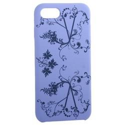 """Чехол-накладка силиконовый Silicone Cover для iPhone SE (2020г.)/ 8/ 7 (4.7"""") Узор Сиреневый"""