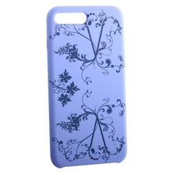 """Чехол-накладка силиконовый Silicone Cover для iPhone 8 Plus/ 7 Plus (5.5"""") Узор Сиреневый"""