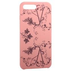 """Чехол-накладка силиконовый Silicone Cover для iPhone 8 Plus/ 7 Plus (5.5"""") Узор Розовый"""