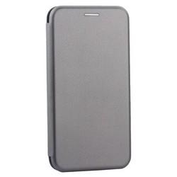 """Чехол-книжка кожаный Innovation Case для iPhone XS/ X (5.8"""") Графитовый"""