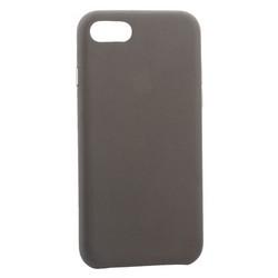 """Чехол-накладка кожаная Leather Case для iPhone SE (2020г.)/ 8/ 7 (4.7"""") Taupe - Бежевый"""