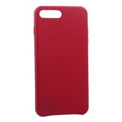 "Чехол-накладка кожаная Leather Case для iPhone 8 Plus/ 7 Plus (5.5"") Pink fuchsia -Малиновый"