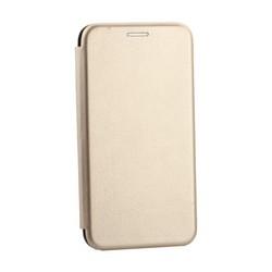 Чехол-книжка кожаный Innovation Case для Samsung Galaxy S10e Золотой