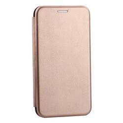 Чехол-книжка кожаный Innovation Case для Samsung Galaxy S10e Розовое золото
