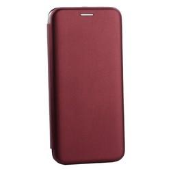 Чехол-книжка кожаный Innovation Case для Samsung Galaxy S10 Plus Бордовый