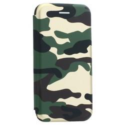 """Чехол-книжка кожаный Innovation Case для iPhone SE (2020г.)/ 8/ 7 (4.7"""") Камуфляж"""