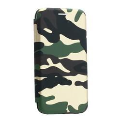 """Чехол-книжка кожаный Innovation Case для iPhone XS/ X (5.8"""") Камуфляж"""
