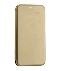 Чехол-книжка кожаный Innovation Case для Samsung Galaxy A30 Золотой