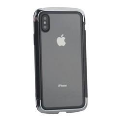 """Чехол-накладка противоударный (AERO - DRAGO) закаленное стекло для iPhone XS/ X (5.8"""") Серебристый"""