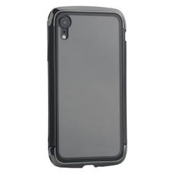 """Чехол-накладка противоударный (AERO - DRAGO) закаленное стекло для iPhone XR (6.1"""") Черный"""