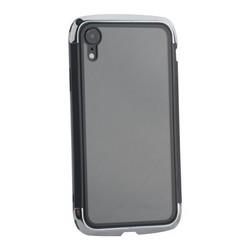 """Чехол-накладка противоударный (AERO - DRAGO) закаленное стекло для iPhone XR (6.1"""") Серебристый"""