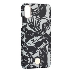 "Чехол-накладка KINGXBAR для iPhone XS/ X (5.8"") пластик со стразами Swarovski (Черный камуфляж)"