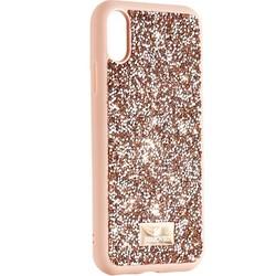 """Чехол-накладка силиконовая со стразами SWAROVSKI Crystalline для iPhone XR (6.1"""") Светло-коричневый"""