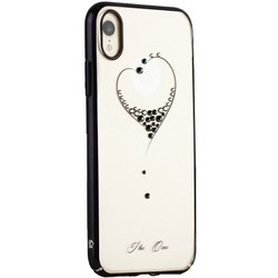 "Чехол-накладка KINGXBAR для iPhone XR (6.1"") пластик со стразами Swarovski 49F черный (The One)"